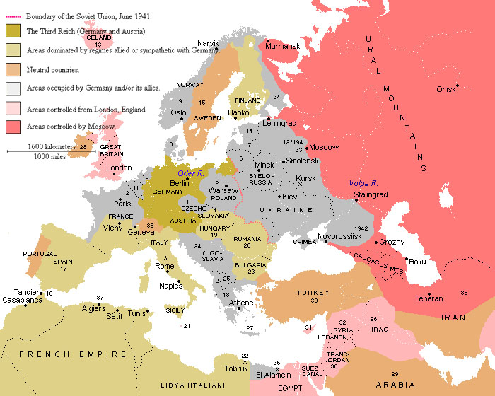 World war ii 1940 the countries hercules and xena the role map of the war torn old world gumiabroncs Choice Image